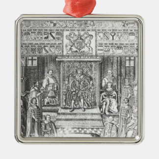 James I of England  at Court Metal Ornament