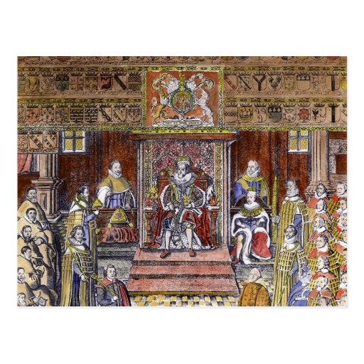 James I of England  at Court, Post Cards