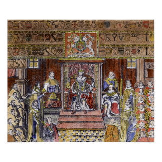 James I of England  at Court, Poster