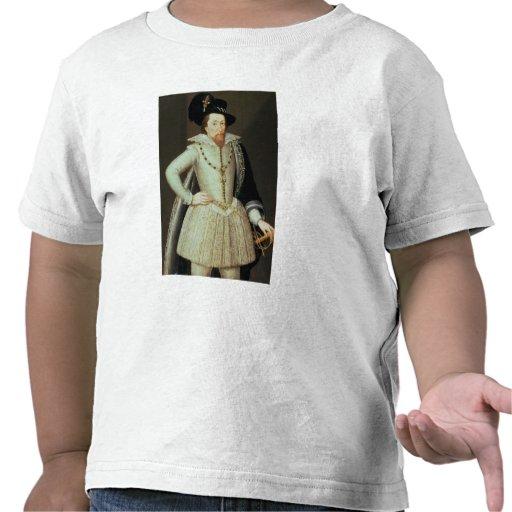 James I, retrato de la mitad-longitud Camisetas