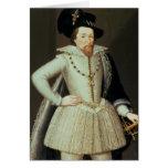 James I, retrato de la mitad-longitud Felicitacion