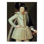 James I, retrato de la mitad-longitud Tarjeta Postal