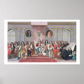 James II (1633-1701) que recibe el Sc matemático Poster