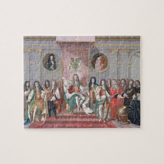 James II (1633-1701) Receiving the Mathematical Sc Jigsaw Puzzle