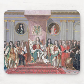 James II (1633-1701) Receiving the Mathematical Sc Mouse Pad