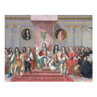 James II (1633-1701) Receiving the Mathematical Sc Postcard