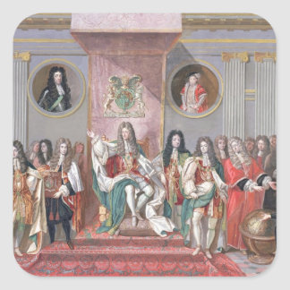 James II (1633-1701) Receiving the Mathematical Sc Square Sticker