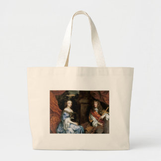 James II and Anne Hyde by Sir Peter Lely Large Tote Bag