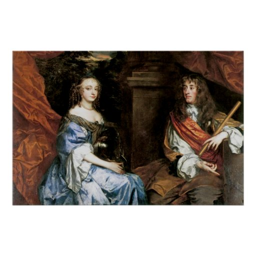 James II and Anne Hyde by Sir Peter Lely Poster