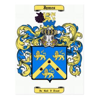 james (inglés) tarjeta postal