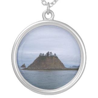 James Island Round Pendant Necklace