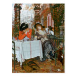 James Jacques Joseph Tissot | A Luncheon Postcard