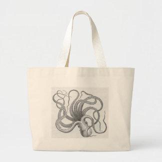 James Johonnot - Octopus Large Tote Bag