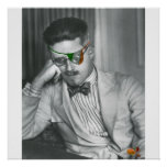 JAMES JOYCE BY THE BURBANK ROSE POSTER