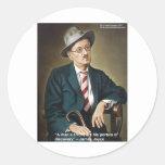 """James Joyce """"errores/portales"""" cita los regalos y Pegatina Redonda"""