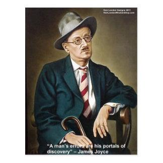 """James Joyce """"errores/portales"""" cita los regalos y Tarjetas Postales"""