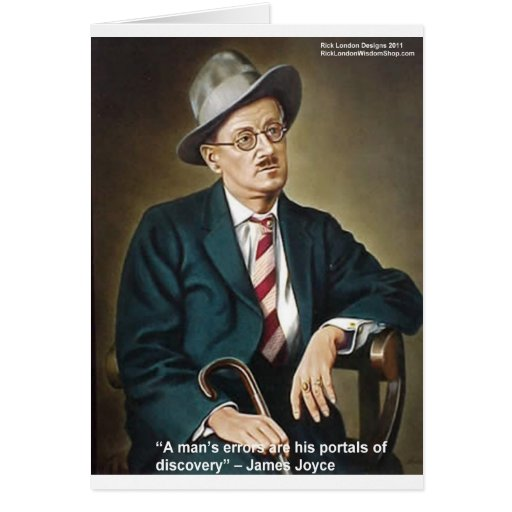 """James Joyce """"Errors/Portals"""" Quote Gifts & Cards Greeting Card"""