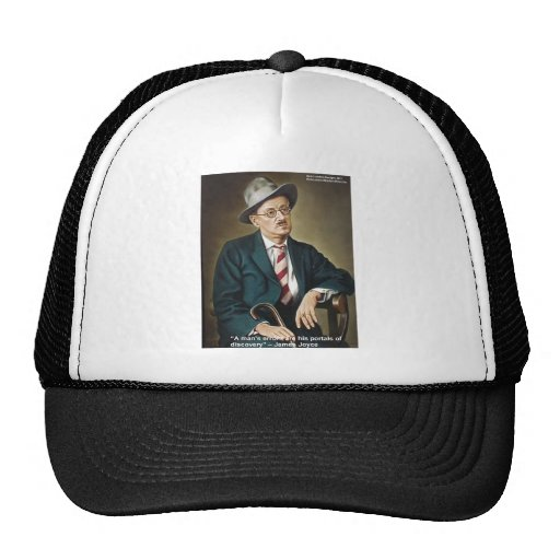 """James Joyce """"Errors/Portals"""" Quote Gifts & Cards Trucker Hat"""