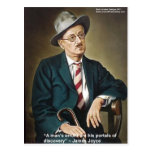 """James Joyce """"Errors/Portals"""" Quote Gifts & Cards Post Card"""