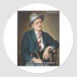 """James Joyce """"Errors/Portals"""" Quote Gifts & Cards Sticker"""