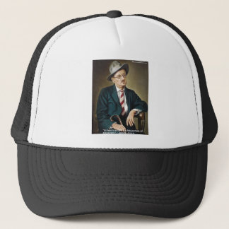 "James Joyce ""Errors/Portals"" Quote Gifts & Cards Trucker Hat"
