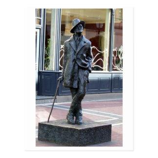 James Joyce, escultura irlandesa del autor, ciudad Postales