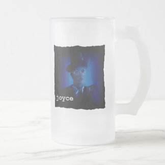 James Joyce Frosted Glass Frosted Glass Beer Mug