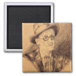 James Joyce Imán Para Frigorifico