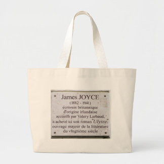 James Joyce Ulysses Parisian Plaque Tote Bag