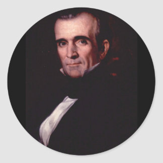 James K. Polk 11 Classic Round Sticker