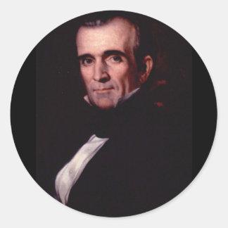 James K. Polk 11 Pegatina Redonda