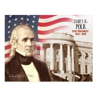 James K. Polk - 11mo presidente de los E.E.U.U. Tarjetas Postales