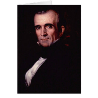 James K. Polk 11th US President Card