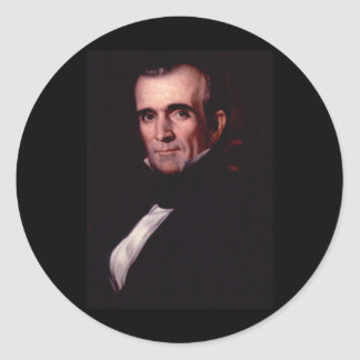 James K. Polk 11th US President Classic Round Sticker