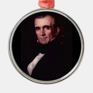 James K. Polk 11th US President Metal Ornament