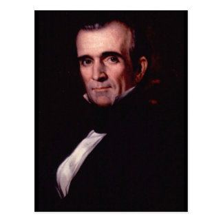 James K. Polk 11th US President Postcard