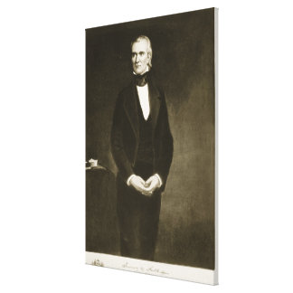 James K. Polk (1795-1849), 11mo presidente del U Impresión En Lienzo