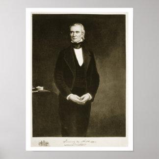 James K. Polk (1795-1849), 11mo presidente del U Póster