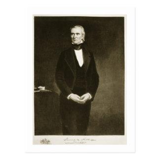 James K. Polk (1795-1849), 11mo presidente del U Tarjeta Postal
