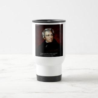 James K Polk And Quote Travel Mug