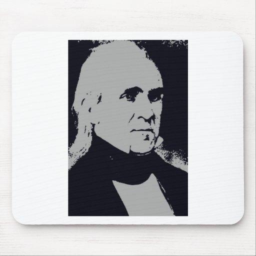 James K. Polk silhouette Mouse Pad