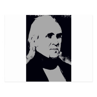 James K. Polk silhouette Postcard