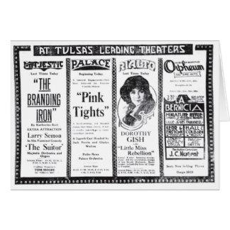 James Kirkwood Dorothy Gish 1920 movie theater ads Card