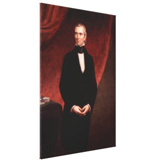 JAMES KNOX POLK by George Peter Alexander Healy Canvas Print