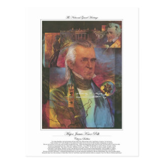 James Knox Polk Citizen Soldier Postcard