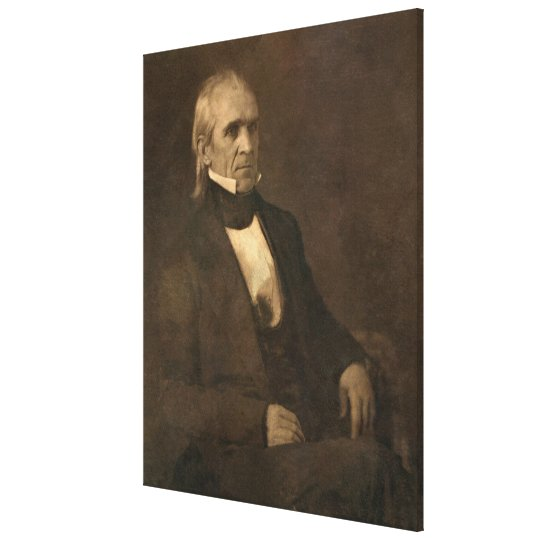 JAMES KNOX POLK Daguerreotype by Mathew Brady Canvas Print