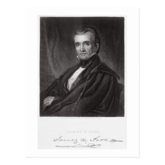 James Knox Polk, engraved by Henry Bryan Hall (180 Postcard
