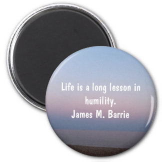 James M. Barrie Quotes: Round Magnet