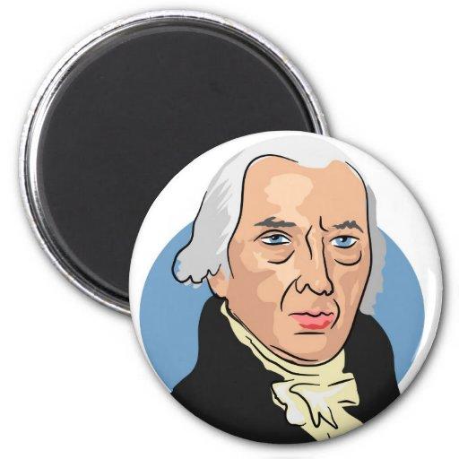 James Madison 2 Inch Round Magnet
