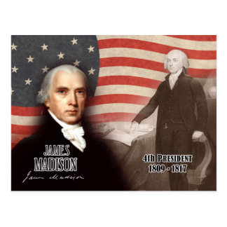 James Madison - 4th President of the U S Post Card